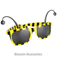 A797 Yellow Black Bumble Bee Novelty Sunglasses Tinted Glasses Costume Animal