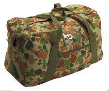 "Canvas Army Echelon Bag 26"" Auscam Cotton Heavy Duty 60L Cadet Duffle Carry All"