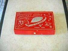 "VINTAGE SCHOOL ""  ROCKET WHIZ  ""   PENCIL CASE"
