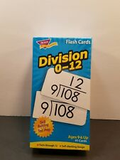 Trend Division 0-12 Flash Cards T53106 Skill Building & Test Prep 91 cards