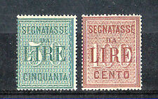 Francobolli del Regno d'Italia segnatassi
