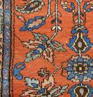 Antique Kurd rug lovely estate 3.4x 410 Hamedan carpet 1920s botanical