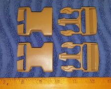 "(Set-2) US Military ITW NEXUS 1.5"" Coyote Tan Buckles, Backpacks, ILBE Main Pack"