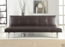 Faux Leather Solid Pattern Contemporary Sofa Beds
