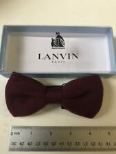 Lanvin Burgundy  Bow Tie  Made in France