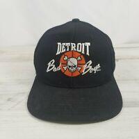 Vintage Motor City Bad Boys Detroit Pistons Hat Cap Yupoong Snapback -READ