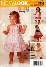 New Look Sewing Pattern 6353 Babies Dress