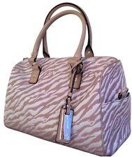 Calvin Klein CK Animal Print Tan & White Shoulder Bag Handbag Satchel Purse EUC