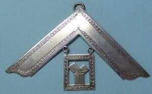 Masonic Solid Silver Past Master Collar Jewel 1929
