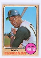 1968 Topps #344 Donn Clendenon Pittsburgh Pirates Baseball Card