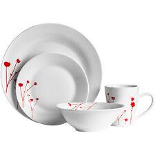 Wild Flower 32pc Porcelain Kitchen Serving Plates Bowls Mugs Service Dinner Set
