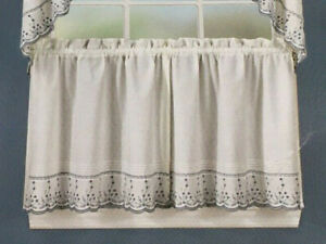 """CHF 24"""" Cafe Curtain Tiers - Abby Wedgewood"""