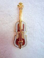 Joan Rivers Estate Pin Cello Bass Fiddle From Her Personal Jewelry Box!