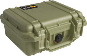 OD Green Pelican 1200 Case with Foam includes FREE Custom Engraved Nameplate