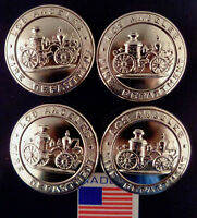 Los Anegles Fire Department Set of 4 silver Uniform Buttons LARGE California CA