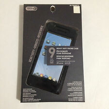 NEW TECH-1 BLACK HEAVY DUTY 9 PCS IPHONE 5, 5C, 5S CASE