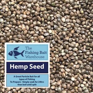 Hemp Seed 5kg - Fishing Particle Bait, Tench, Carp, Wild Bird Seed