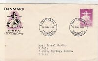 denmark 1959  stamps cover ref 19625