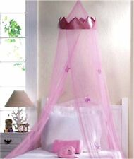 "Royalty ** PINK ""CROWN"" PRINCESS BED CANOPY W/ PINK CROWN HANGING FROM NET * NIB"