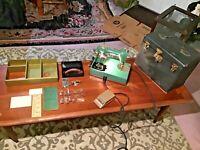ANTIQUE 1929 GENERAL ELECTRIC MODEL AZ PORT. SEWING MACHINE W/CASE & ACCESSORIES