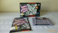 King Arther's World Super Nintendo Game Cartridge SNES Box Instructions Working