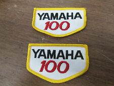 """Vintage NOS Yamaha 100 Motorcycle Motocross MX Emroidered 2x3.25"""" Patches QTY2"""
