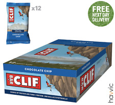 Clif Bar Plant Based Energy Bar   12 x 68g Bars Chocolate Chip