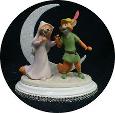 Disney Robin Hood & Maid Marian Wedding Cake Topper. Precious fox love Figurine