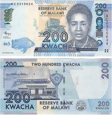 Malawi 200 Kwacha P-60a 2012 NEUF UNC Uncirculated Banknote