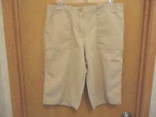 "Womens New York & Company Size 10 Beige / Tan Shorts "" EUC """