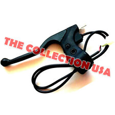 New Black Plastic Left Side Brake Lever With Wires For Razor Electric Scooter
