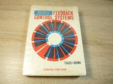 Thaler, Brown: Analysis & Design of Feedback Control Systems / Englisches Buch