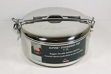 NEW! Camping Hiking Pot 1.1-Liter Alpine Stowaway Camp Cookware Stainless Steel