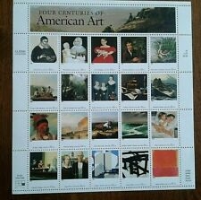"SHEET OF 20 ""FOUR CENTURIES OF AMERICAN ART"" 32 CENT STAMPS - 1998 - SCOTT #3236"