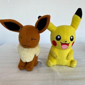 Pokemon Toys R Us Exclusive Eevee Plush + Pikachu Stuffed Animal both Tomy brand