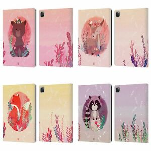 HEAD CASE DESIGNS WOODLAND ANIMALS LEATHER BOOK CASE & WALLPAPER FOR APPLE iPAD
