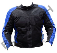 BLACK ASH BA11 MENS MOTORCYCLE TEXTILE MESH ARMOR JACKET BLUE  LARGE