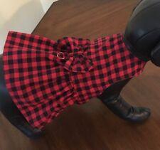 Buffalo Plaid Dog Dress For Small Breed