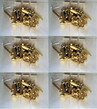 Six paquets de 20 x 20 mm Laiton Split Pins/Papier Fasteners, neuf = 120 in (environ 304.80 cm) total