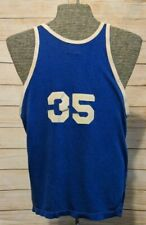 Vintage High School Gym Basketball Jersey General Athletic Products USA Blue