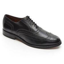 Men Allen Edmonds Lloyd Wingtip Oxfords 8.5 D Black Leather Brogue Derby Shoes