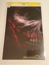 "BATMAN DAMNED #3 - LEE BERMEJO ART PRINT/SIGNED & NUMBERED #1/100 CGC (11""x17"")"
