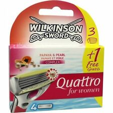Wilkinson Sword Quattro for women Papaya&Pearl 4-pack  free shipping worldwide