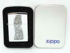 Vintage 1996 Zippo Lighter Chrome Barrett Smythe Cigar Store Indian MINT