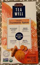 CELESTIAL TEA WELL ORGANIC TURMERIC SPICE TEA BAGS-16 COUNT-NEW!