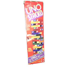 Vintage Uno Stacko Game Mattel 1994,Ages 8 and Up, 2 or more players For Parts