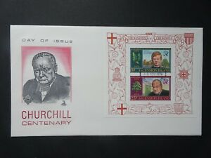 Ascension Island Winston Churchill centenary official first day stamp cover 1974