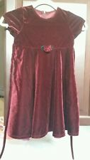 Goodlad Girls Dark Maroon Velvet Holiday Party Dress Size 6 Short sleeve