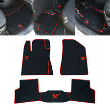Xprite Black Red Interior Seat Rubber Floor Mat for 2015-2017 Jeep Renegade