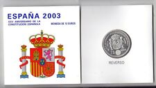 """ESPAÑA 2003  CARTERA 12 EURO  PLATA  """" CONSTITUCION """""""